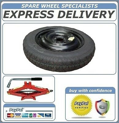 "MITSUBISHI MIRAGE (2012-PRESENT DAY) 14"" SPACE SAVER SPARE WHEEL AND TOOL KIT"