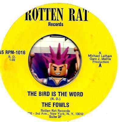 FOWLS BIRD IS THE WORD  MARK FIDRYCH DETROIT TIGERS GARAGE GROUP ROCK 45 RPM