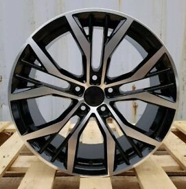 BRAND NEW 18'' VW SANTIAGO STYLE ALLOY WHEELS X4 BOXED 5X112 GOLF MK5 MK6 MK7 SCIROCCO PASSAT CADDY