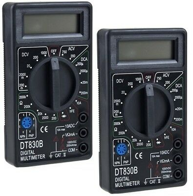 Lot Of 2 Digital Lcd Multimeter Volt Ohm Ac Dc Volt Multi Meter