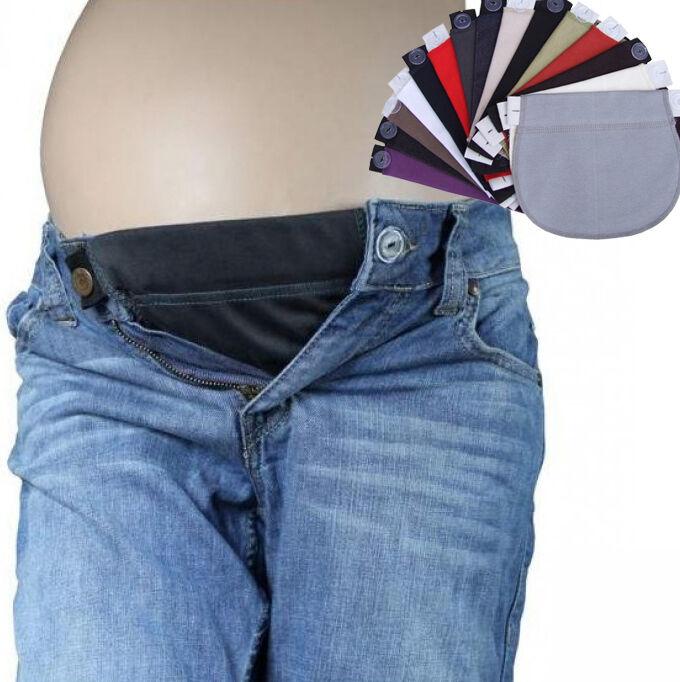 Maternity Pregnancy waistband belly belt ADJUSTABLE elastic waist extender pants