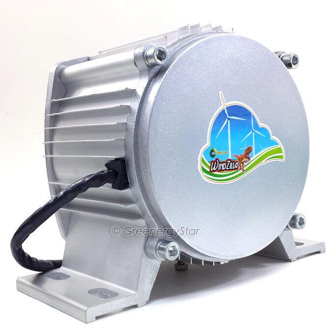 WindZilla 12V AC Max 3200 W PMA 12 Blades Wind Turbine Generator+Slip Ring+HUB