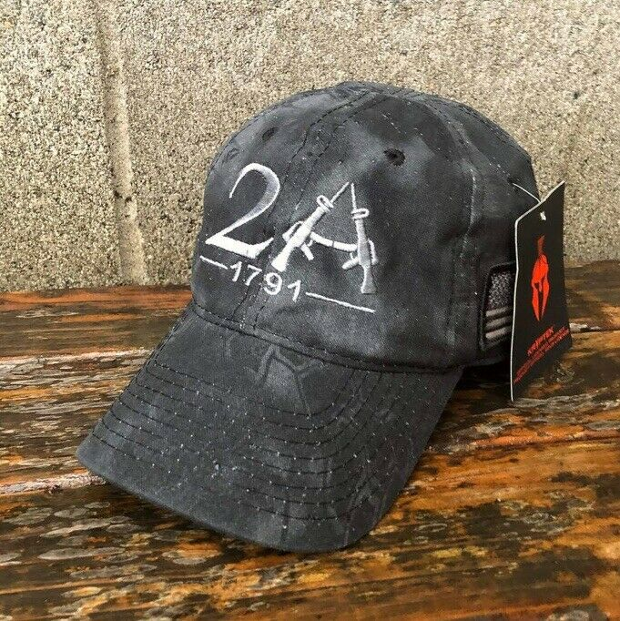2nd (Second) Amendment 1791 AK-47 Kryptek American Flag Design 2A Baseball Hat