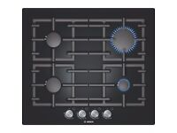 Bosch PPP616B91E Gas Hob 4 Burner Black Glass - PRICE INCLUDES POSTAGE