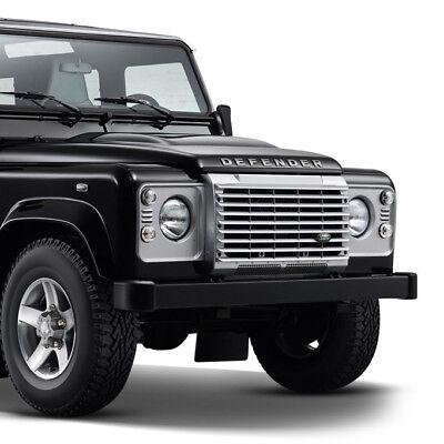 Land Rover Defender Hood Decal Lettering Emblem Name Plate SILVER Genuine OEM