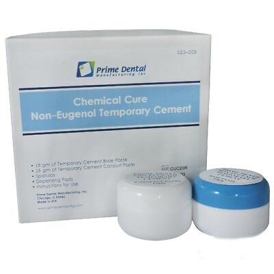 Chemical Cure Non Eugenol Temporary Cement Dental Paste Kit Tempbond Prime Dent