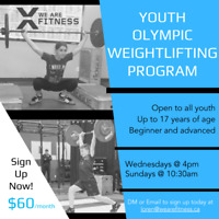 Youth Olympic Weightlifting Class