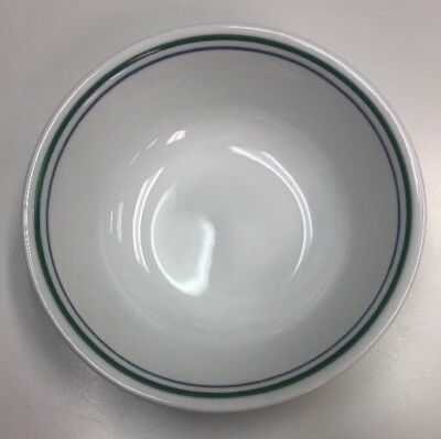 """Corelle 6 1/4"""" Soup/cereal Bowl ~ Country Cottage ~ Blue & Green Stripes"""