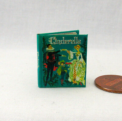 CINDERELLA Miniature Book Dollhouse 1:12 Scale Illustrated Readable Book 1961