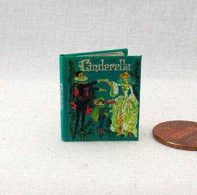 CINDERELLA Miniature Book Dollhouse 1:12 Scale Illustrated Readable Book 1961