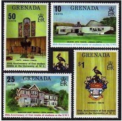 Grenada 542-545, hinged.Michel 569-572. University of West Indies, 25, 1974.