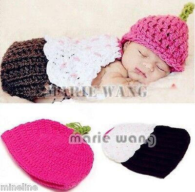★★★NEU Baby Fotoshooting Kostüm Kleiner Capcake Muffin Kuchen 0-6 Monate Nr.B★★★