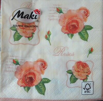 20 x Napkins Full Pack for Table  Party  LUNCH Roses -68
