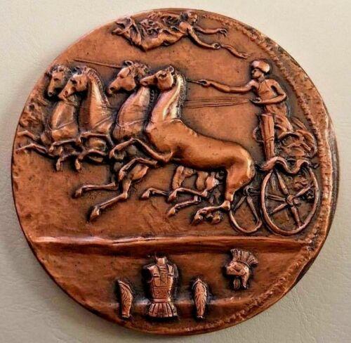 """BRONZE MEDAL 3"""" MEDALLIC ARTS MEDAL History Design Ancient Medal 75 mm / N148"""