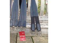 Jeffries black leather girths ( brand new)