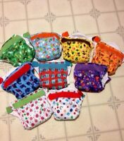 Lot of 9 Tots Bots Easy Fit Cloth Diapers