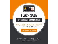 FLASH SALE - Level 6 for £1,000 + VAT - Black CSCS Card