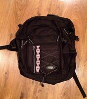 New Black Globe Brand Backpack