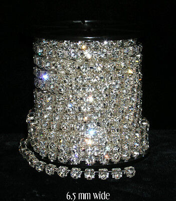 6.5mm Rhinestone Chain Sold by the Foot crafts, clothing, etc.