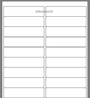 200 Blank 1 X 4 White Address Laser Return Mailing Labels 10 Sheets