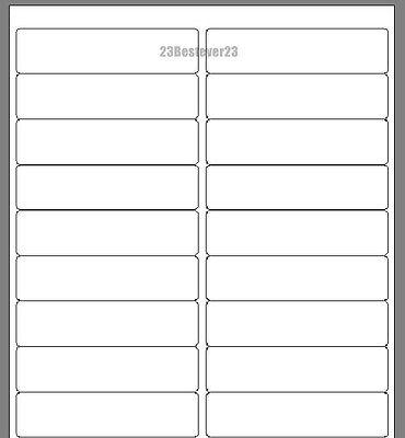 20 Blank 1 X 4 White Address Laser Return Mailing Labels 1 Sheet