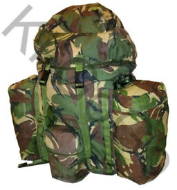 British Army Woodland DPM PLCE Bergen WITH side pouches @ £45