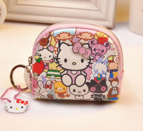 Hello kitty wallet purse pink lovely gift present cards Japan hand bag PU