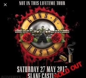 £150 each 2 X GOLDEN CIRCLE Tickets Guns N Roses Not inThis Lifetime Tour 27th May Slane Castle