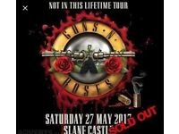Guns n Roses Golden Circle Aka THE FRONT 27th May Slane Castle