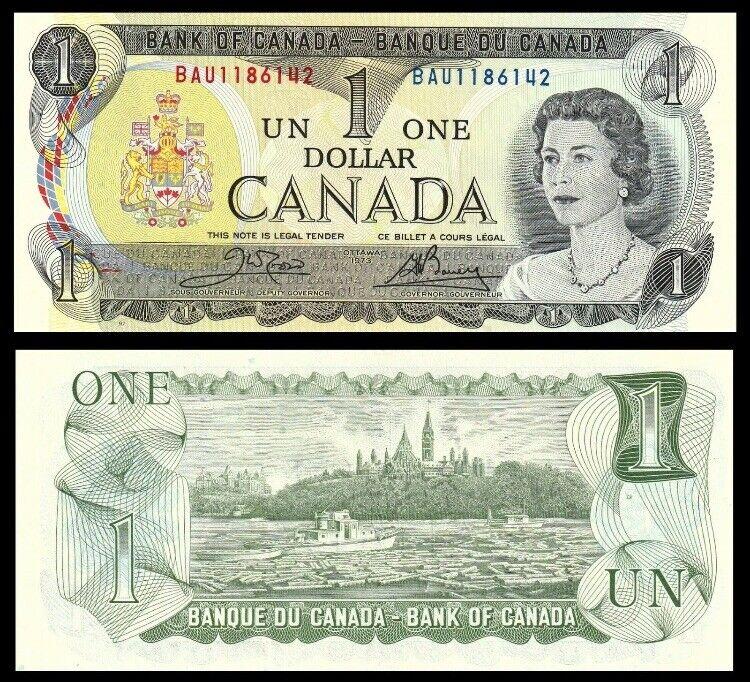 CANADA 1 Dollar, 1973, P-85c, Queen Elizabeth II (QEII), UNC World Currency