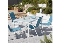 4-6 seater garden furniture table and chairs
