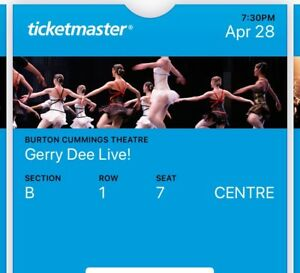 Front row centre ticket to Gerry Dee live!