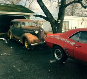 1936 Pontiac barn find with paper