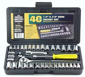 New Great Neck PSO40 40 Piece 1/4-Inch and 3/8-Inch Drive Socket Set