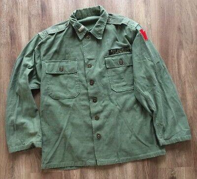 Viet Nam US Army Cotton Sateen Utility Jacket Field Shirt Keystone (Cotton Utility Shirt Patch)