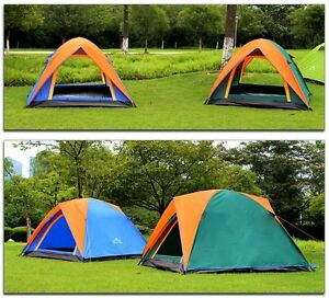 Double Layer 3 4 Person Rainproof Ourdoor Camping Tent for Hikin
