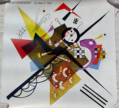 Kandinsky•35x36 Poster•SUR BLANC II 1923•Bauhaus School•Special Sale for sale  Kingston