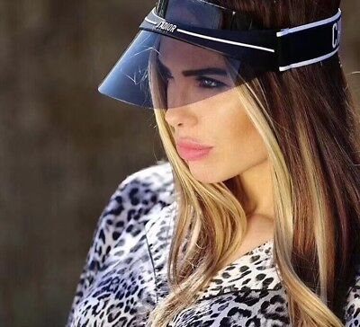 New Authentic Christian Dior DIORCLUB1 J'ADIOR VISOR Blue Sunglasses Women Hat
