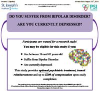 Bipolar Research – Optional Treatment and Compensation!