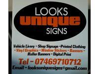 Van Signs - Shop Signs - Printed Clothing
