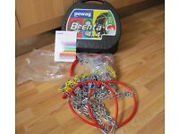Snow Chains see photos for wheel sizes Never used Pewag Brand