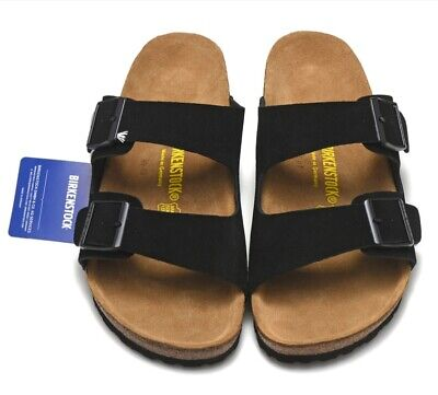Birkenstock Blanca strappy sandal black made of Birko·Flor Stone normal width UK