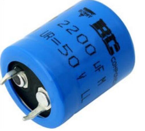 1pcs - BCcomponents 059 100uF 200V 105°C LL Snap-In Capacitor - MAL205952101E3
