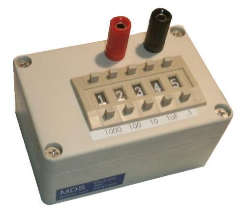 Electrolytic Capacitance Decade Box - 0.1uf - 9999.9uf - 25V