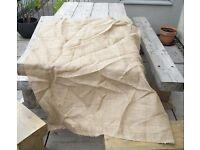 Lovely large piece of hessian / burlap