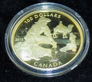 Royal Canadian Mint 14K Gold $100 Caribou Coin, 2500 mintage!!