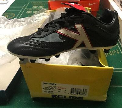 f8149bc13285 Kelme BRAVO M 56643 Soccer Cleats Black Size 5 NEW