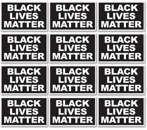 12 PACK 3x5 Inch BLACK LIVES MATTER Sticker Decal kb
