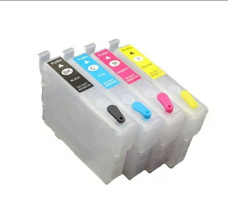 Refillable Cartridge NO CHIP for Epson #702XL WF-3720 WF-3730 WF-3733