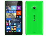 NOKIA LUMIA 535 MICROSOFT SMARTPHONE GREEN,UNLOCKED TO THREE,MINT CONDITION